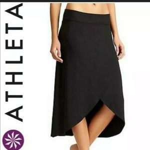 Athleta Black Ribbon Maxi Skirt